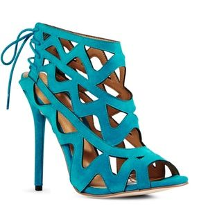 Justfab Turquoise Gladiator Heels